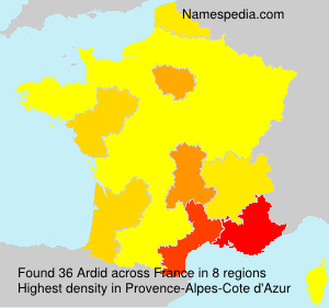Surname Ardid in France