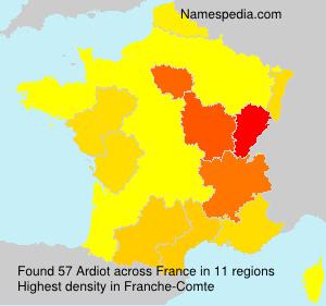 Familiennamen Ardiot - France