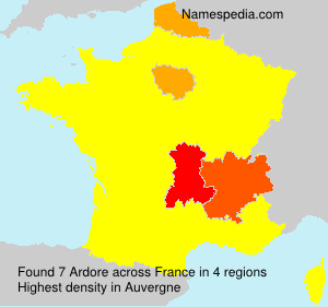 Surname Ardore in France