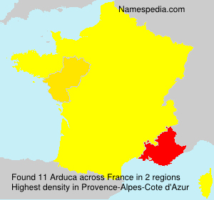 Surname Arduca in France