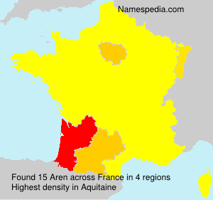 Surname Aren in France