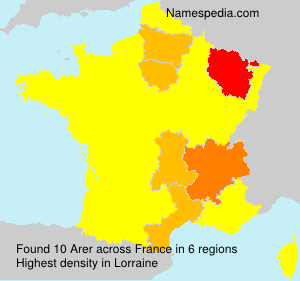 Surname Arer in France