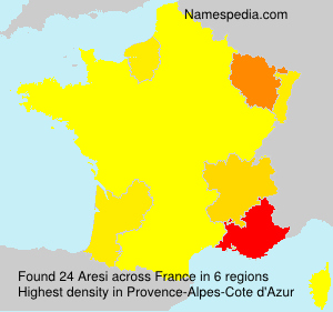 Surname Aresi in France