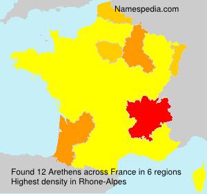 Surname Arethens in France