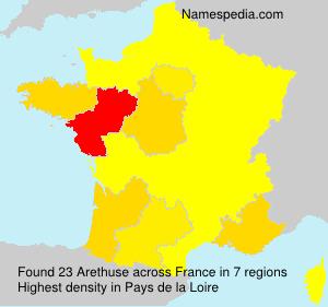 Familiennamen Arethuse - France