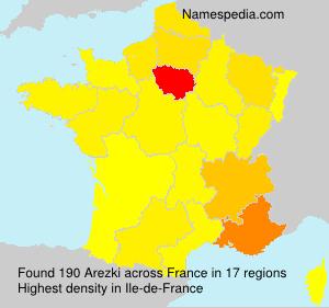 Surname Arezki in France