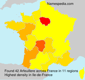 Surname Arfeuillere in France