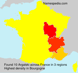Surname Argalski in France