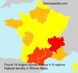 Surname Argent in France