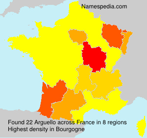 Surname Arguello in France