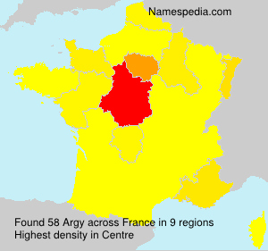 Surname Argy in France