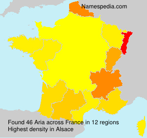 Surname Aria in France