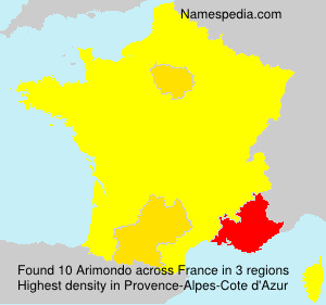 Surname Arimondo in France