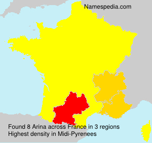 Surname Arina in France