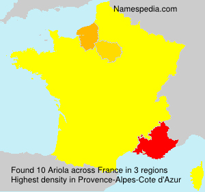 Surname Ariola in France
