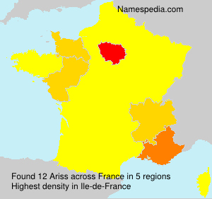 Surname Ariss in France