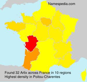 Familiennamen Arlix - France