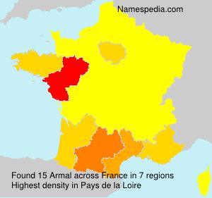 Familiennamen Armal - France