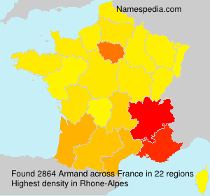Surname Armand in France