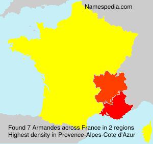 Surname Armandes in France