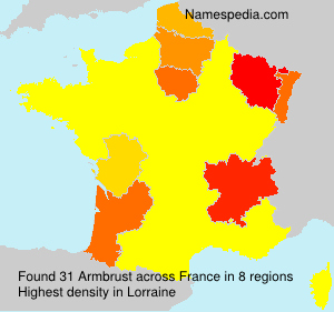 Surname Armbrust in France