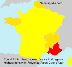 Familiennamen Armiento - France