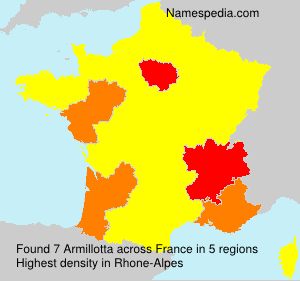 Surname Armillotta in France