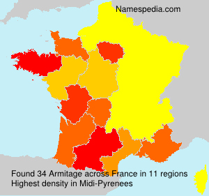 Surname Armitage in France