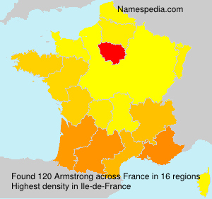 Surname Armstrong in France
