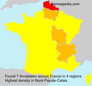 Surname Arnalsteen in France