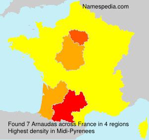 Familiennamen Arnaudas - France