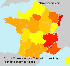 Surname Arndt in France