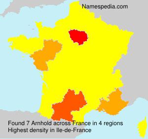 Surname Arnhold in France