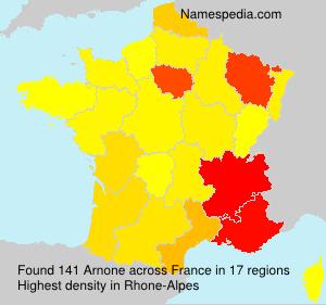 Surname Arnone in France
