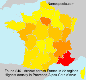 Surname Arnoux in France