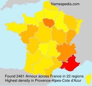Surname Arnoux in France