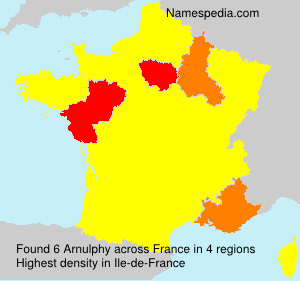 Surname Arnulphy in France