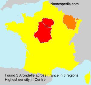 Surname Arondelle in France