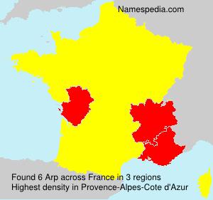 Familiennamen Arp - France