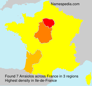 Surname Arraiolos in France