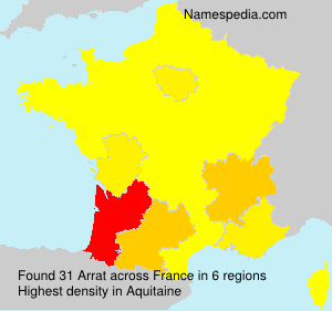 Surname Arrat in France