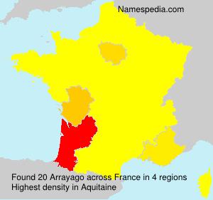 Surname Arrayago in France