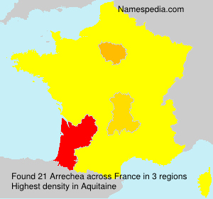 Familiennamen Arrechea - France