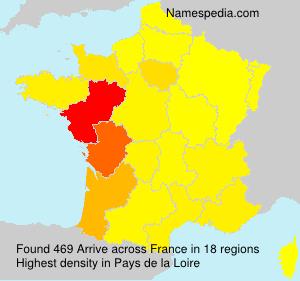 Surname Arrive in France