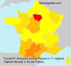 Surname Arrouche in France