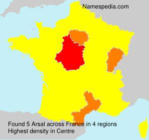 Familiennamen Arsal - France