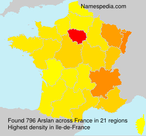 Surname Arslan in France