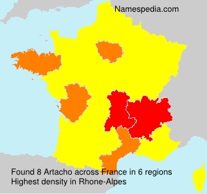 Surname Artacho in France