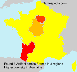 Surname Artifoni in France