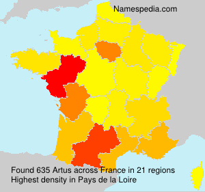Surname Artus in France